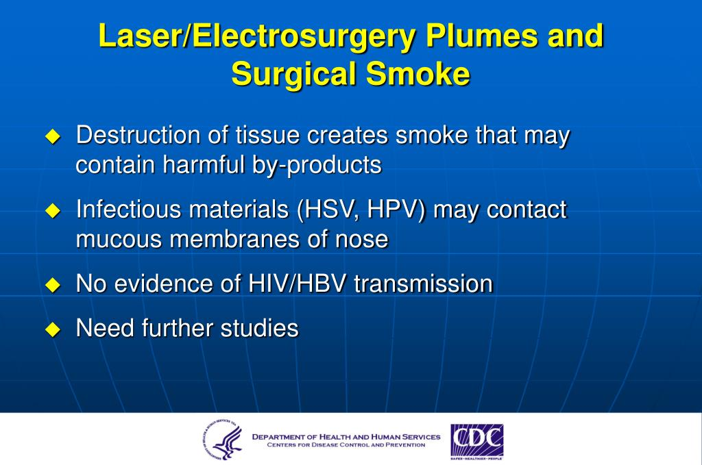 Laser/Electrosurgery Plumes and Surgical Smoke