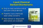 liquid chemical sterilant disinfectants