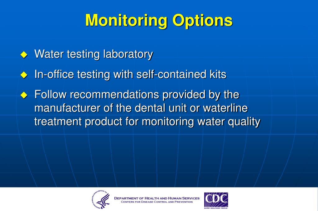 Monitoring Options