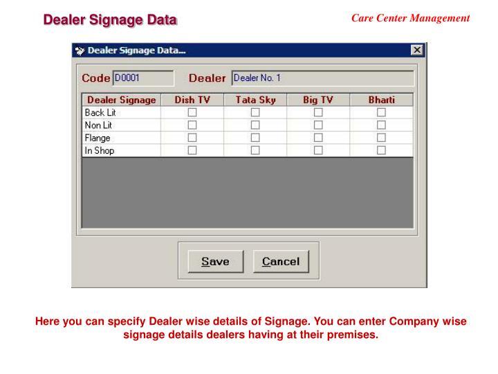 Dealer Signage Data