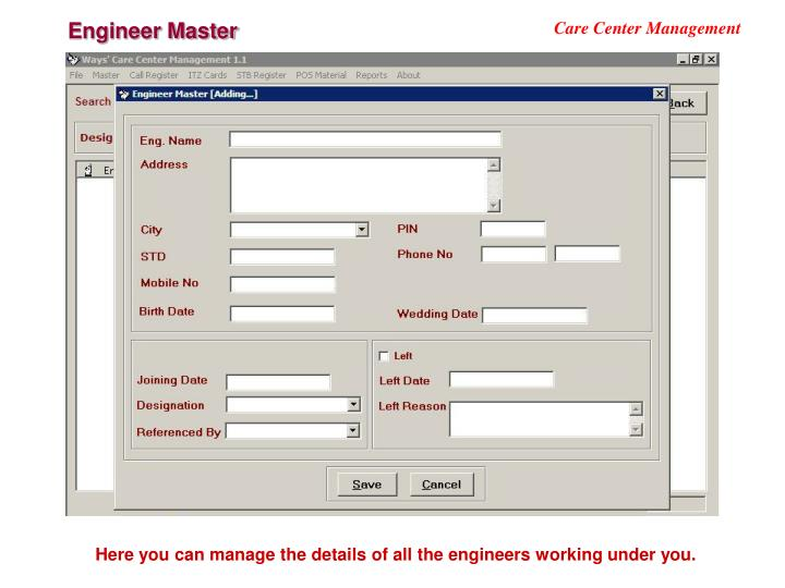Engineer Master