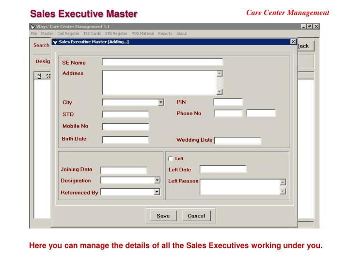 Sales Executive Master