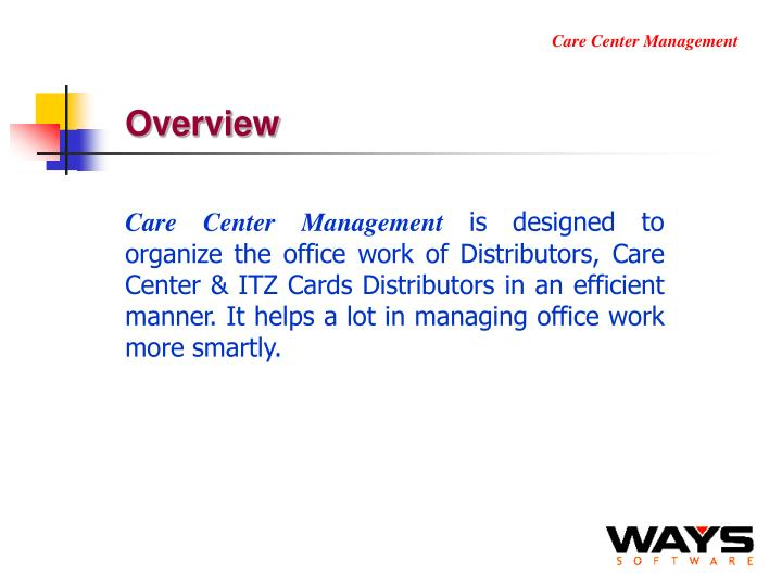 Care Center Management