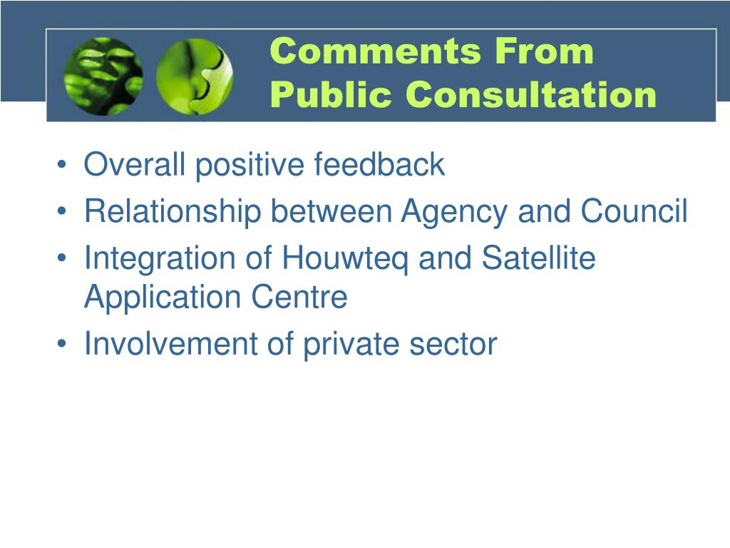 Comments From Public Consultation