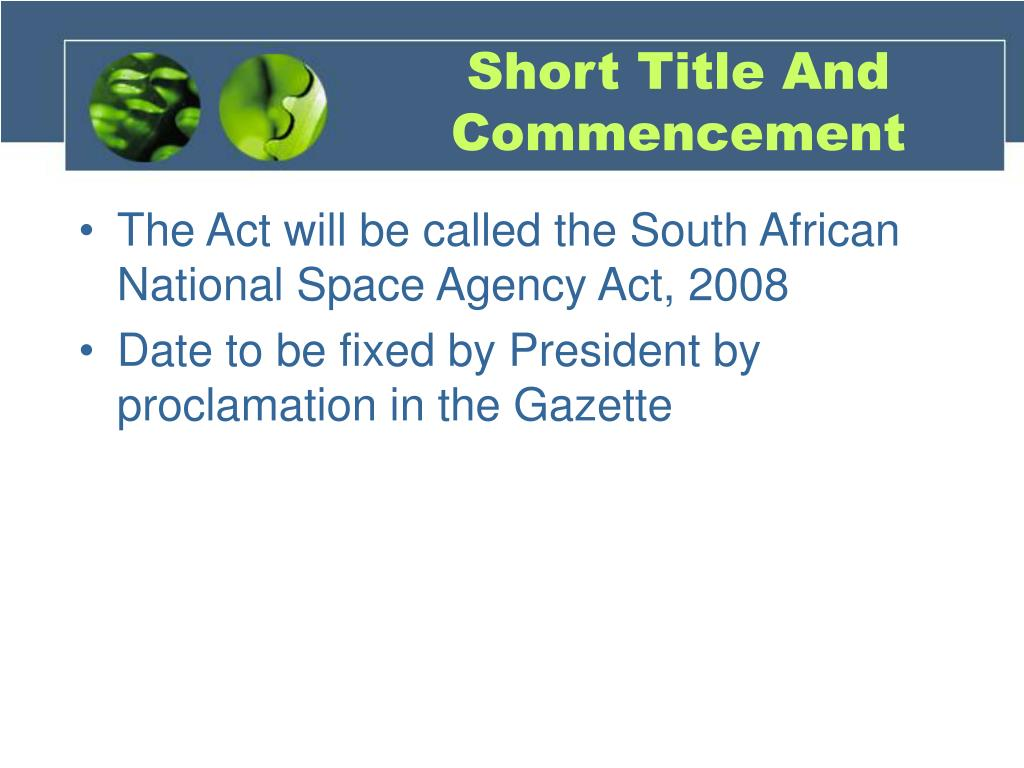 Short Title And Commencement
