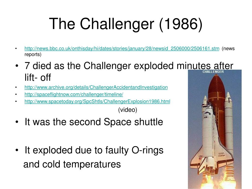 The Challenger (1986)