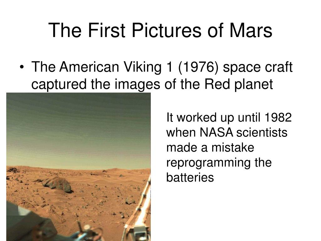 The First Pictures of Mars