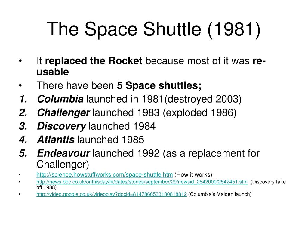 The Space Shuttle (1981)