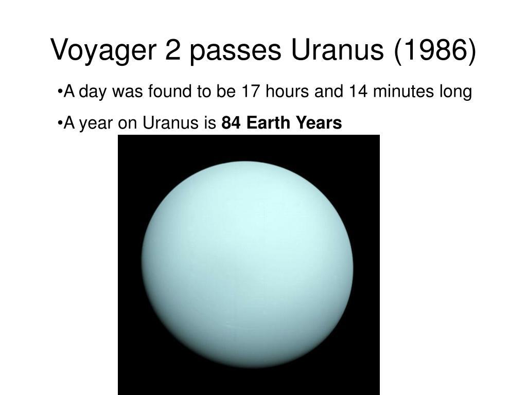 Voyager 2 passes Uranus (1986)