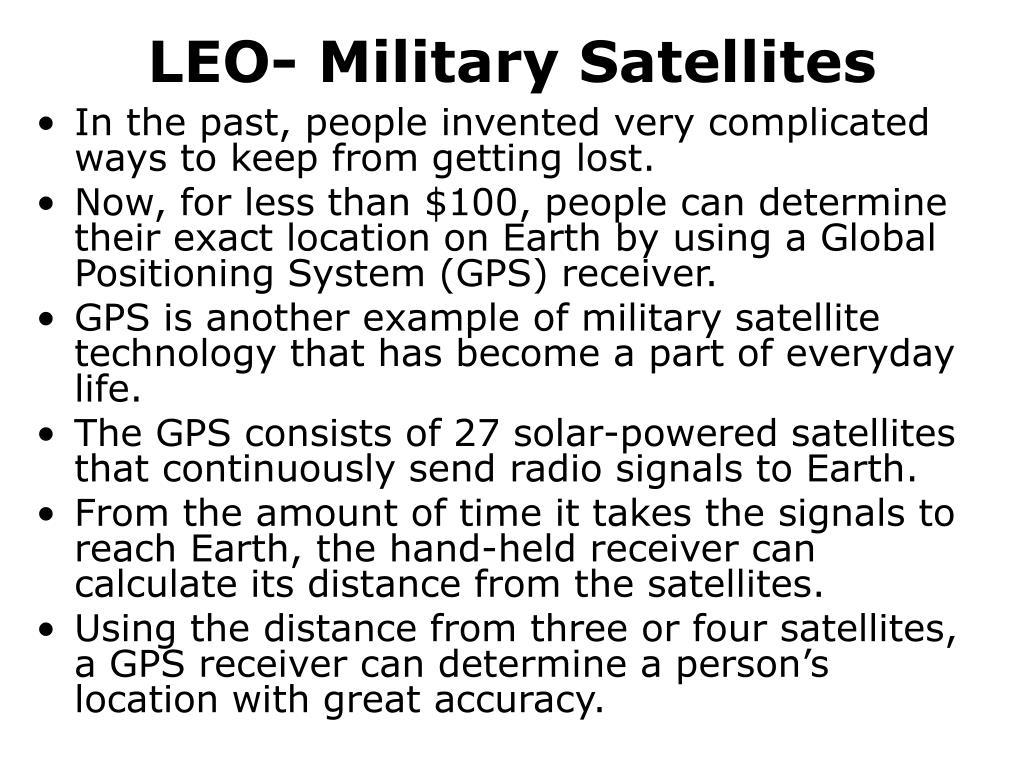 LEO- Military Satellites