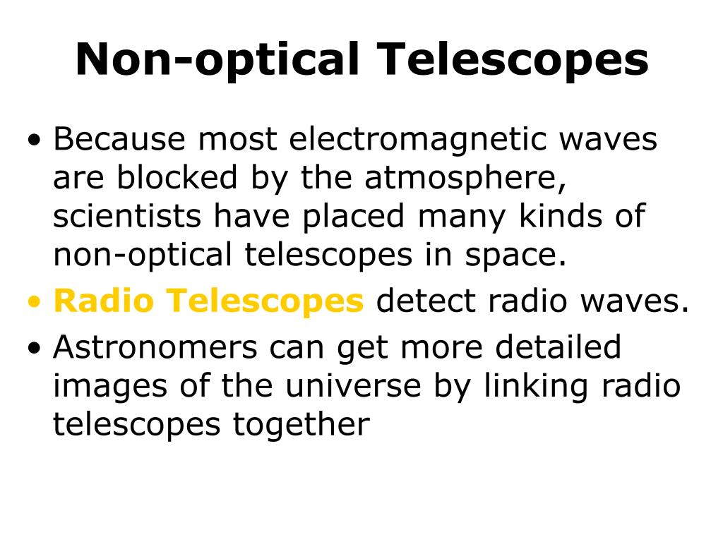 Non-optical Telescopes