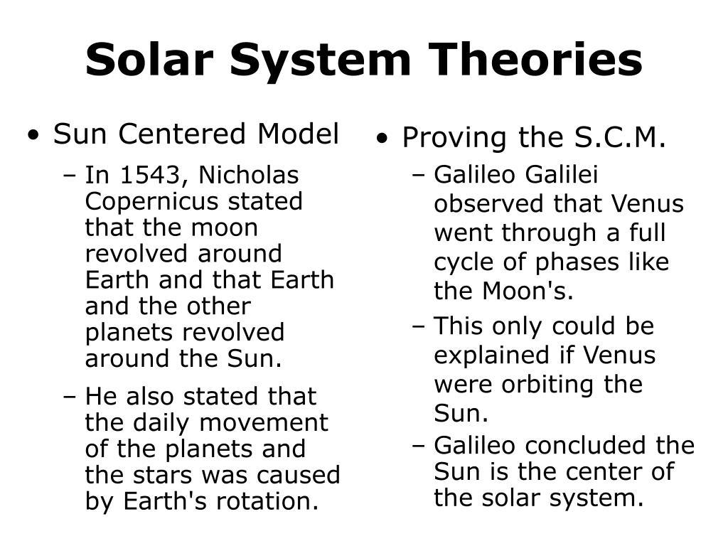 Sun Centered Model