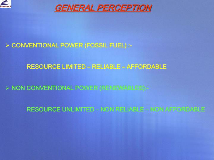 General perception