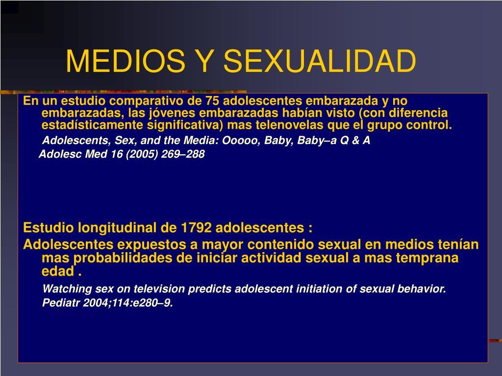 MEDIOS Y SEXUALIDAD