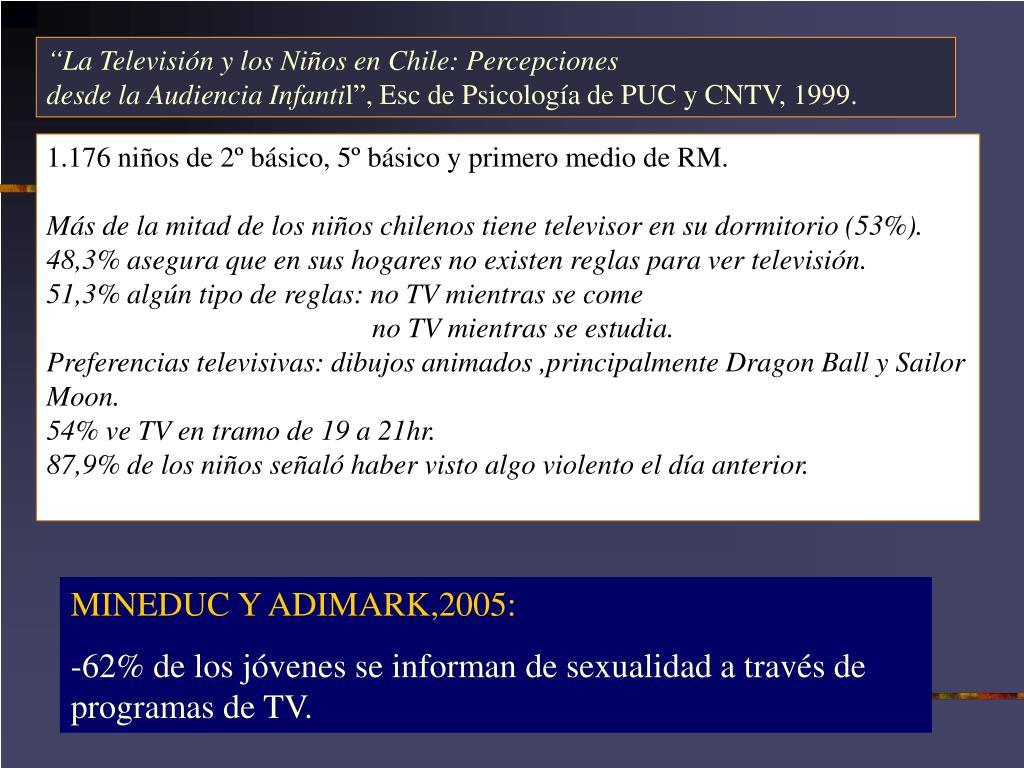"""""""La Televisión y los Niños en Chile: Percepciones"""