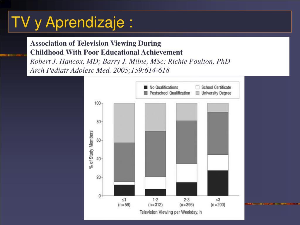 TV y Aprendizaje :