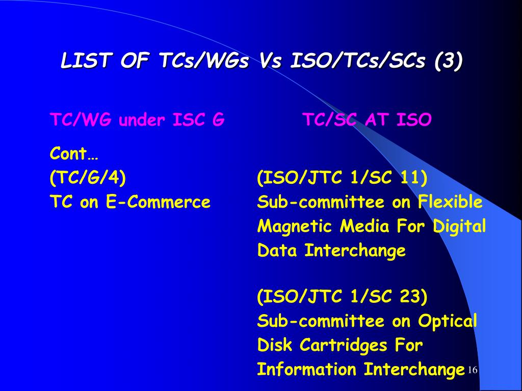 LIST OF TCs/WGs Vs ISO/TCs/SCs (3)