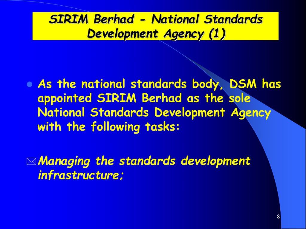 SIRIM Berhad - National Standards Development Agency (1)