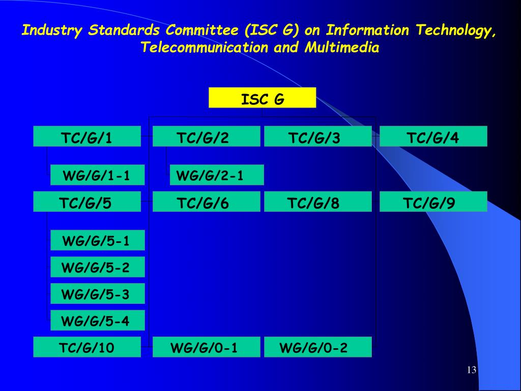 Industry Standards Committee (ISC G) on Information Technology, Telecommunication and Multimedia