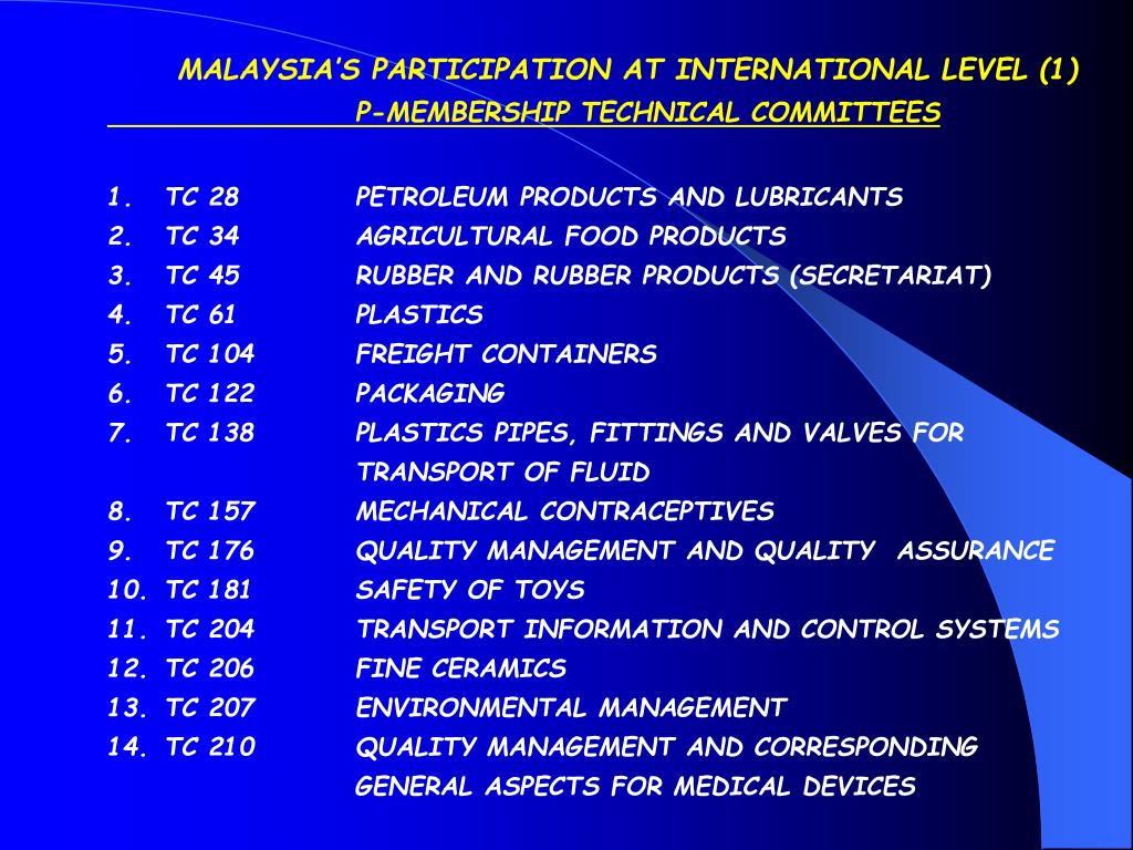 MALAYSIA'S PARTICIPATION AT INTERNATIONAL LEVEL (1)