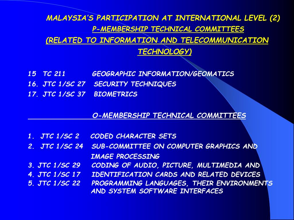 MALAYSIA'S PARTICIPATION AT INTERNATIONAL LEVEL (2)