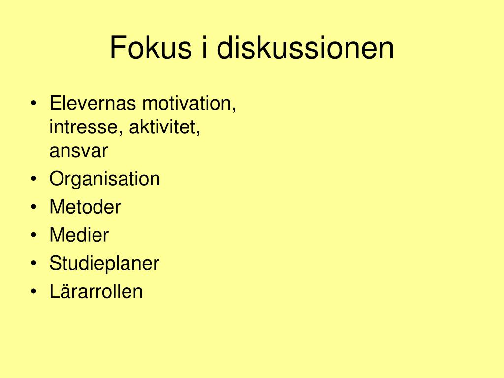 Elevernas motivation, intresse, aktivitet, ansvar