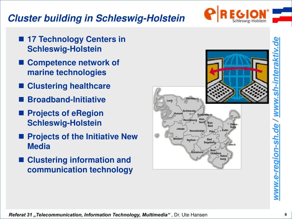 Cluster building in Schleswig-Holstein