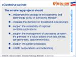 eclustering projects