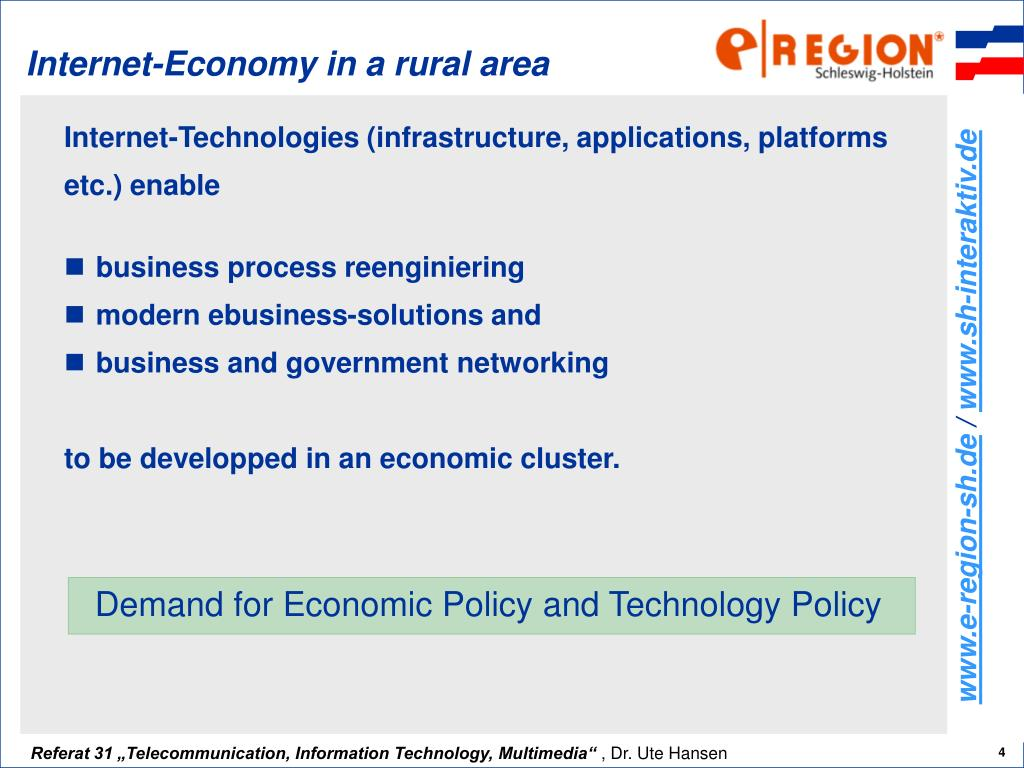 Internet-Economy in a rural area