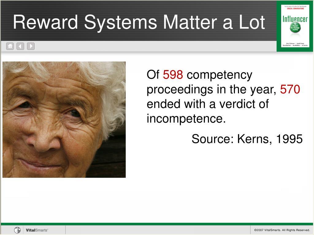 Reward Systems Matter a Lot