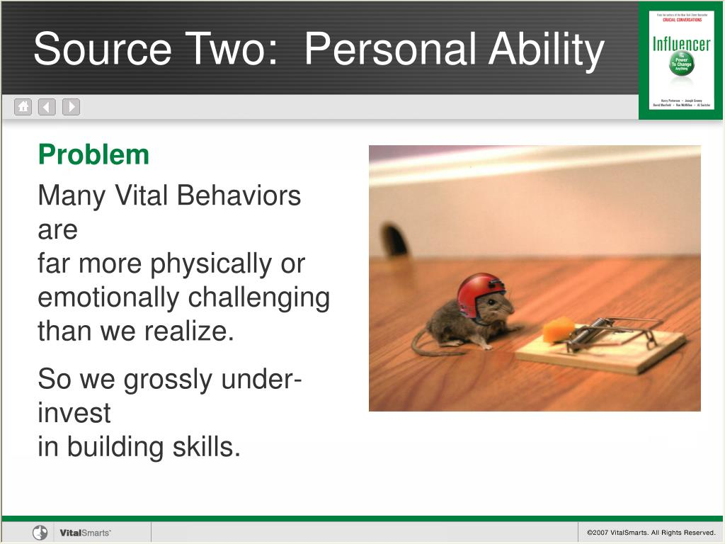 Source Two:  Personal Ability