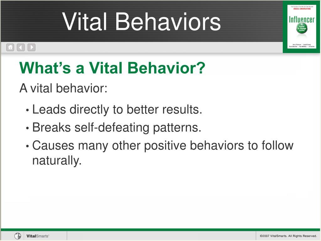 Vital Behaviors