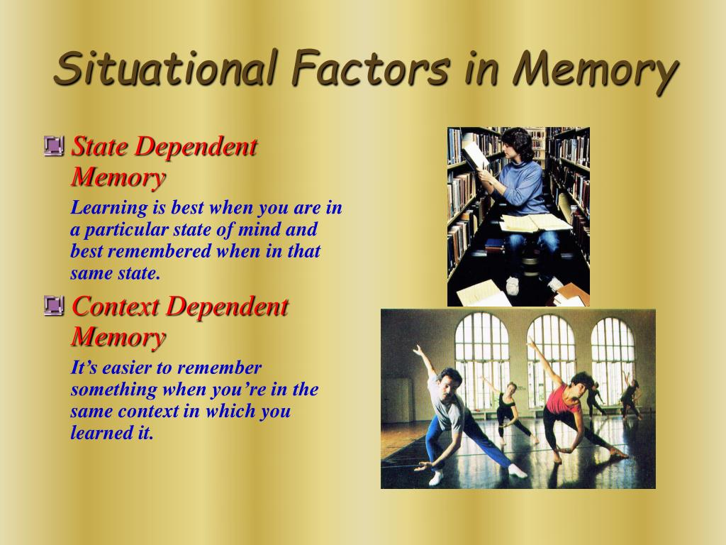 State Dependent Memory