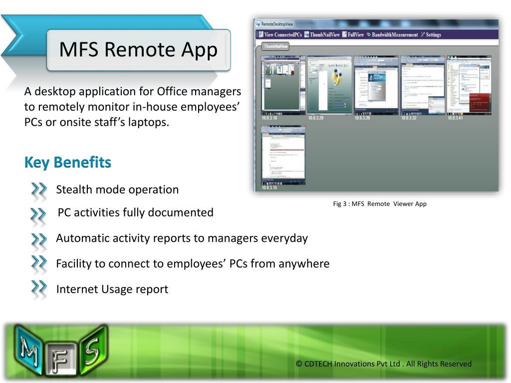 MFS Remote App