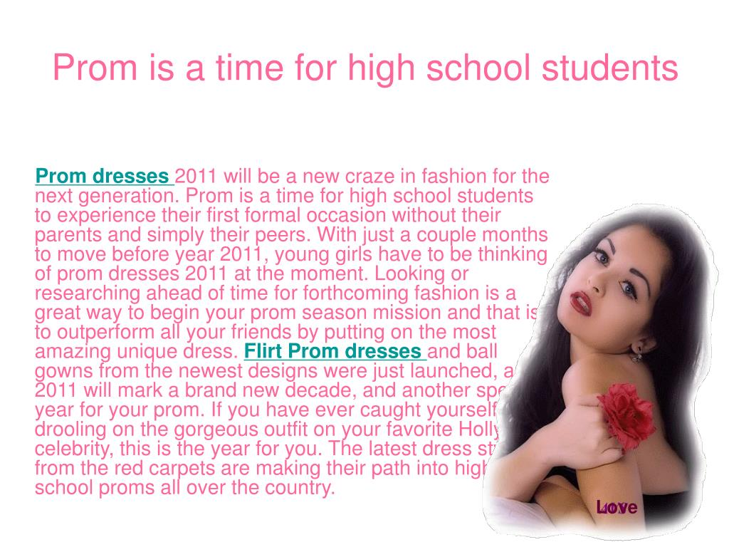 Prom is a time for high school students
