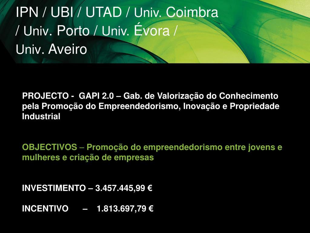 IPN / UBI / UTAD /