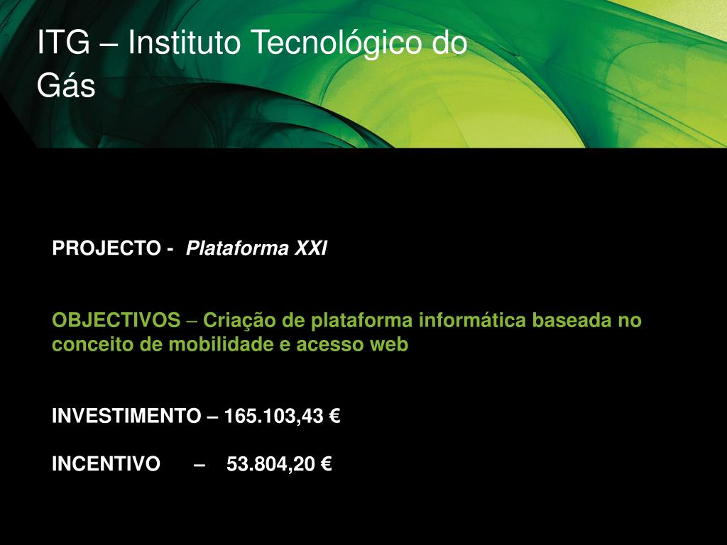ITG – Instituto Tecnológico do Gás
