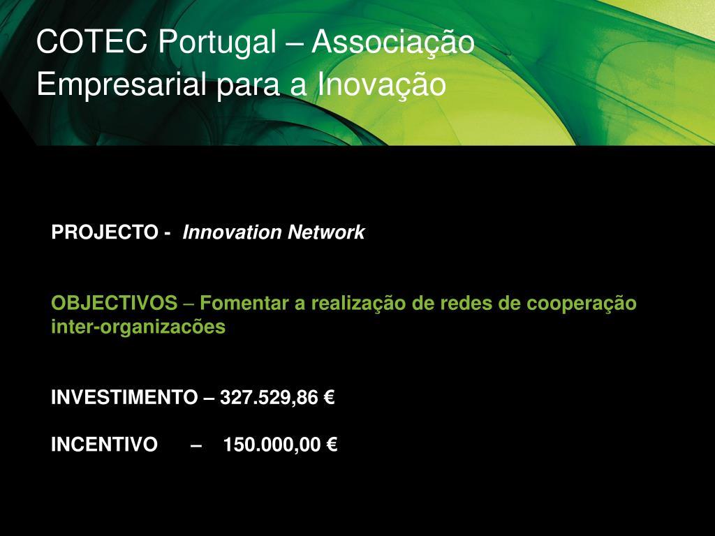 COTEC Portugal – Associação Empresarial para a Inovação