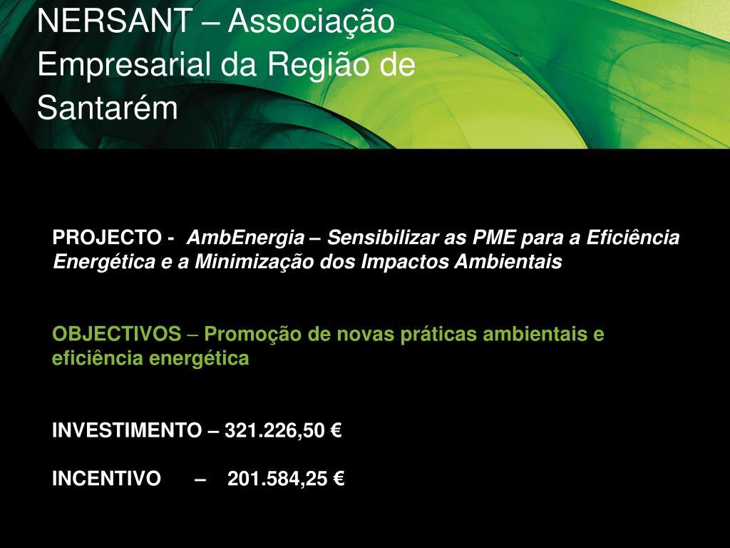 NERSANT – Associação Empresarial da Região de Santarém