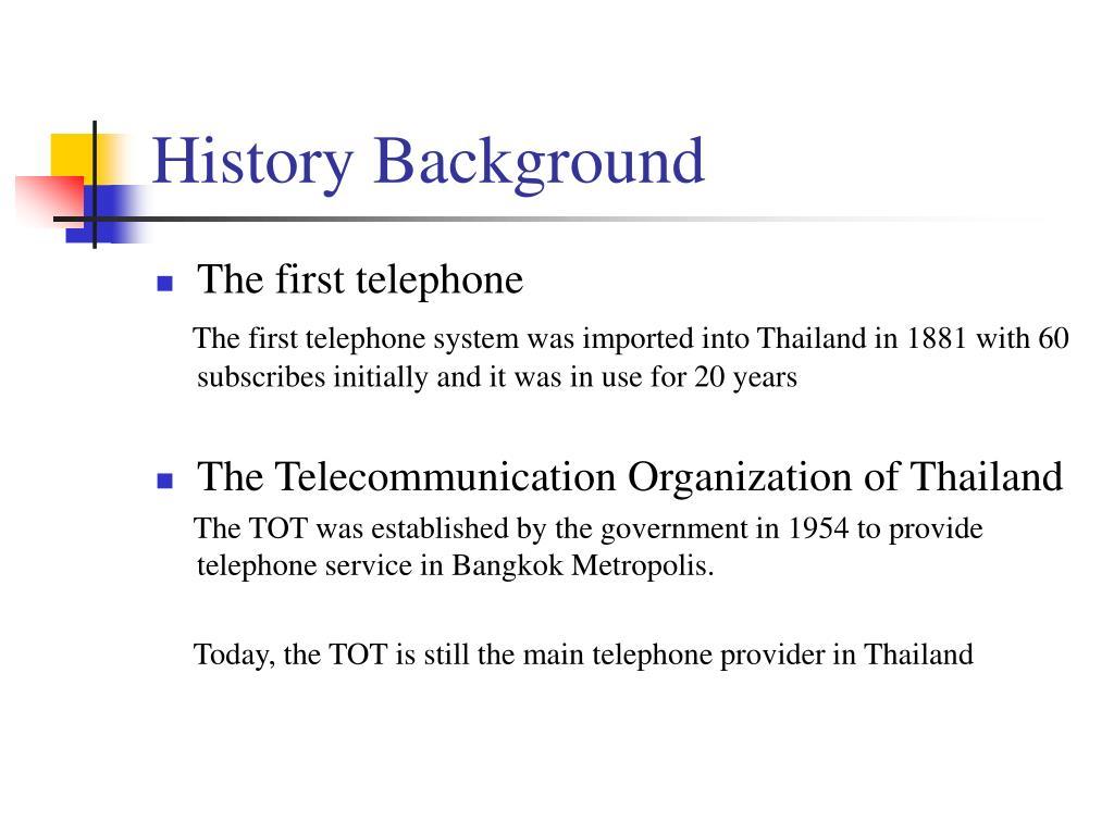 History Background