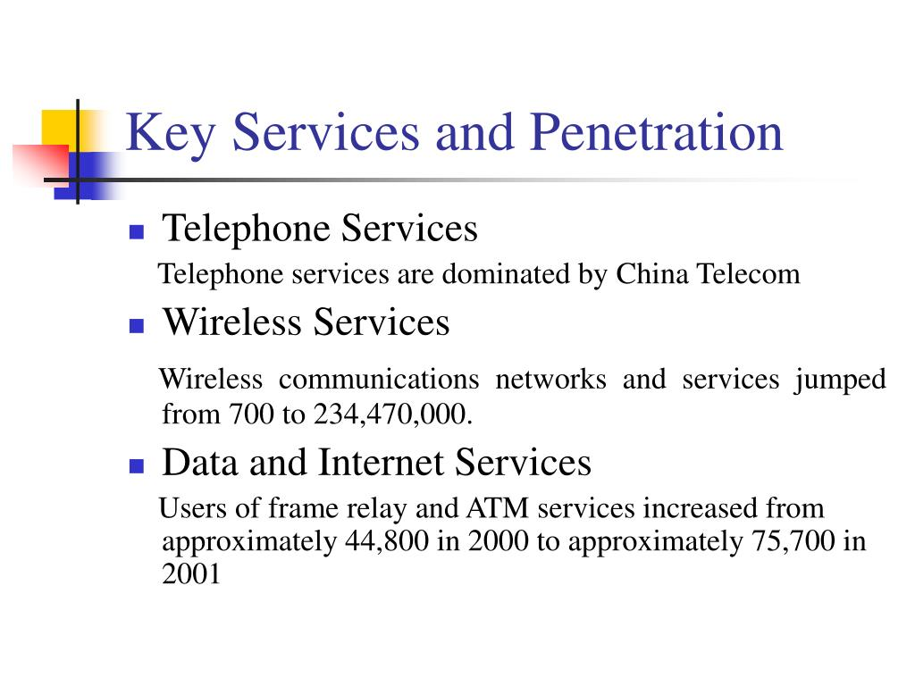 Key Services and Penetration