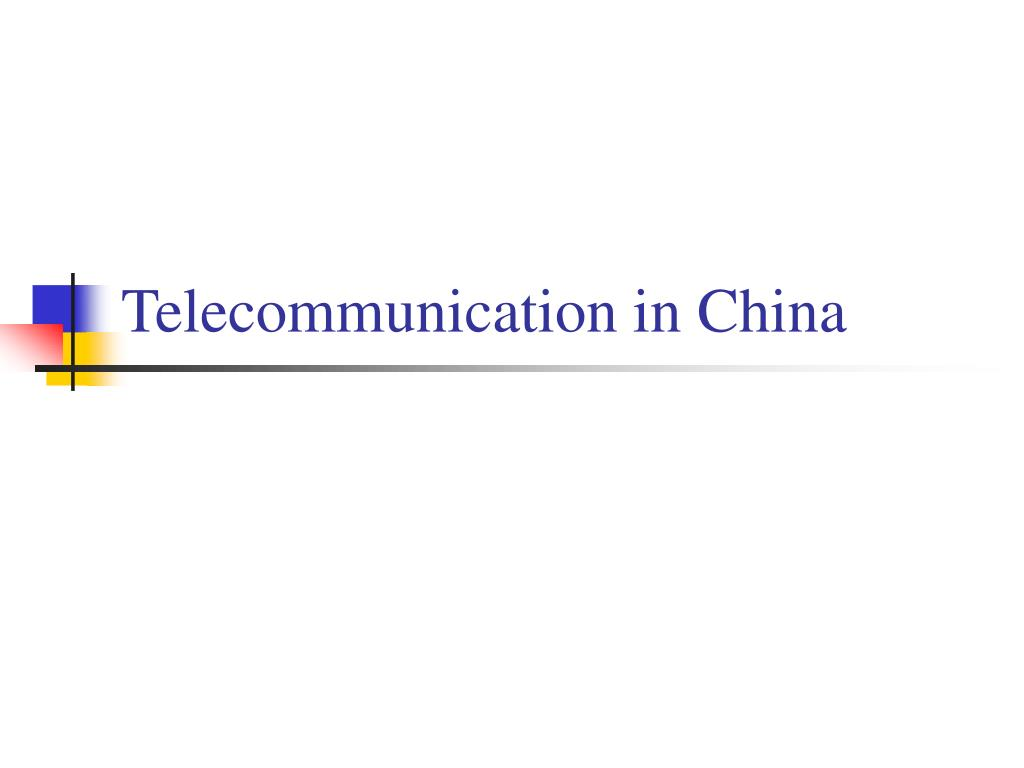 Telecommunication in China