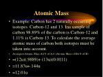 atomic mass1