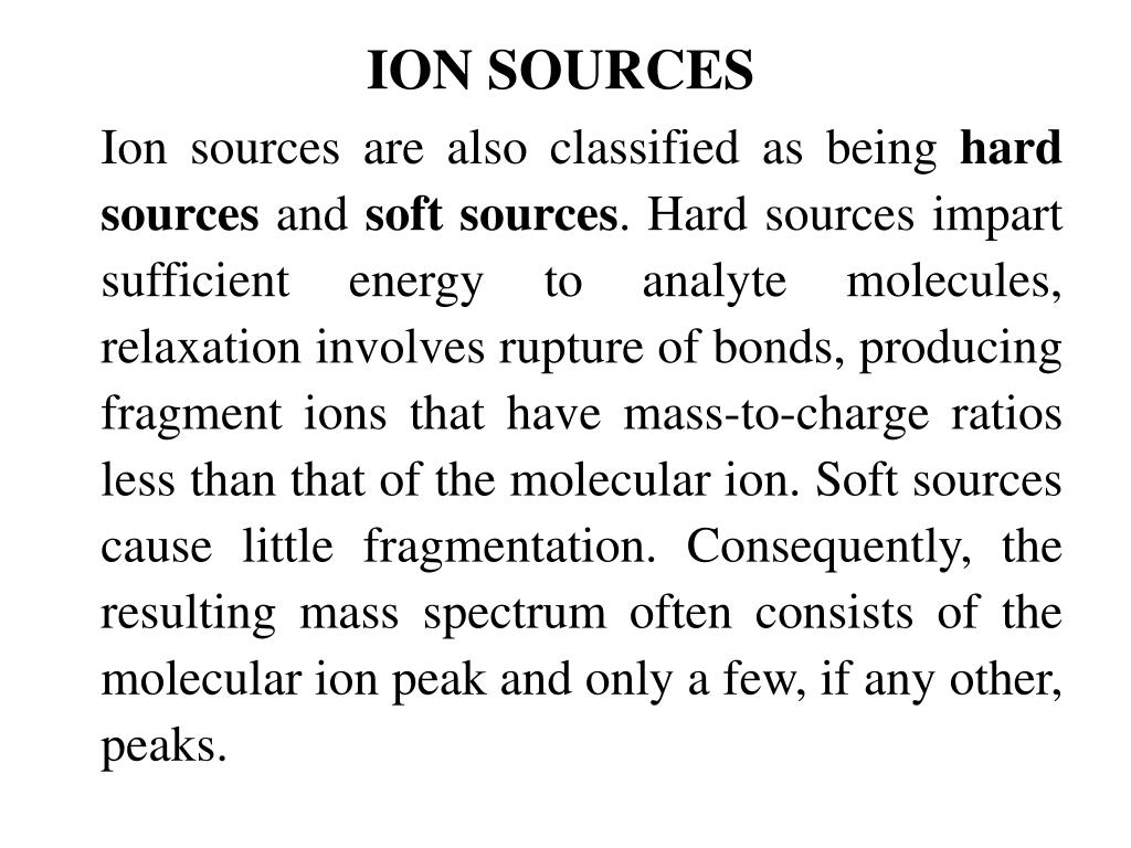 ION SOURCES