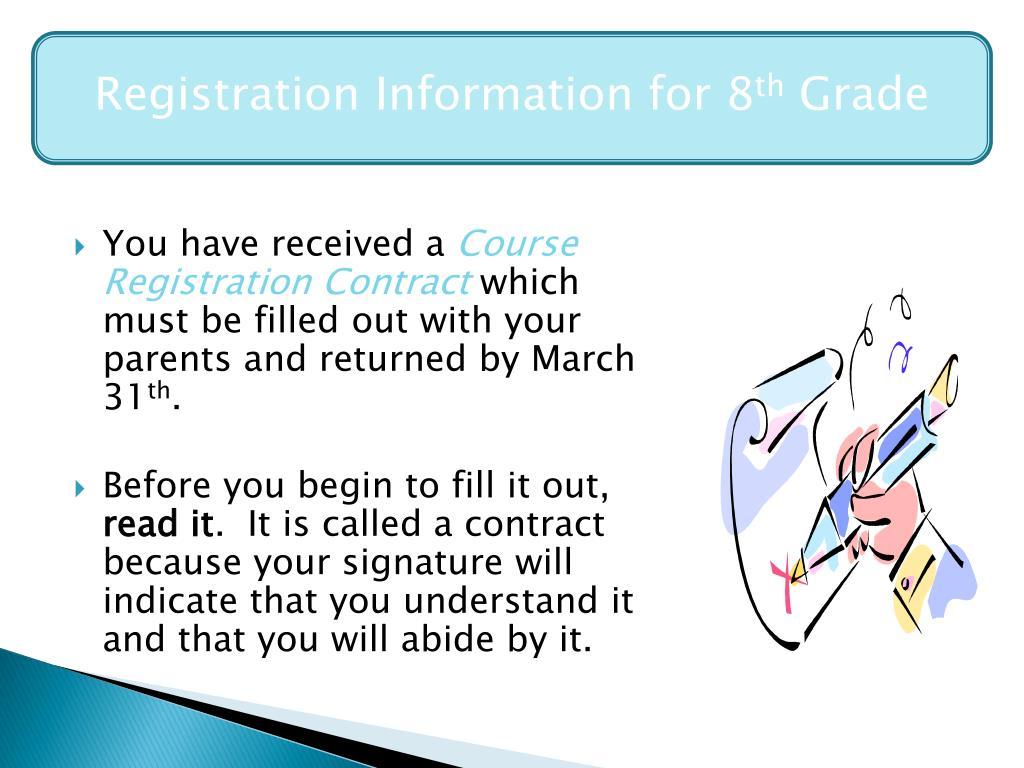 Registration Information for 8