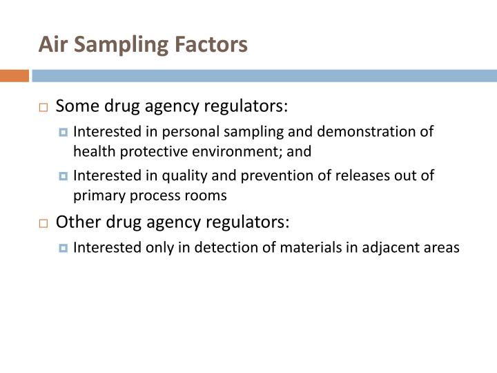 Air Sampling Factors