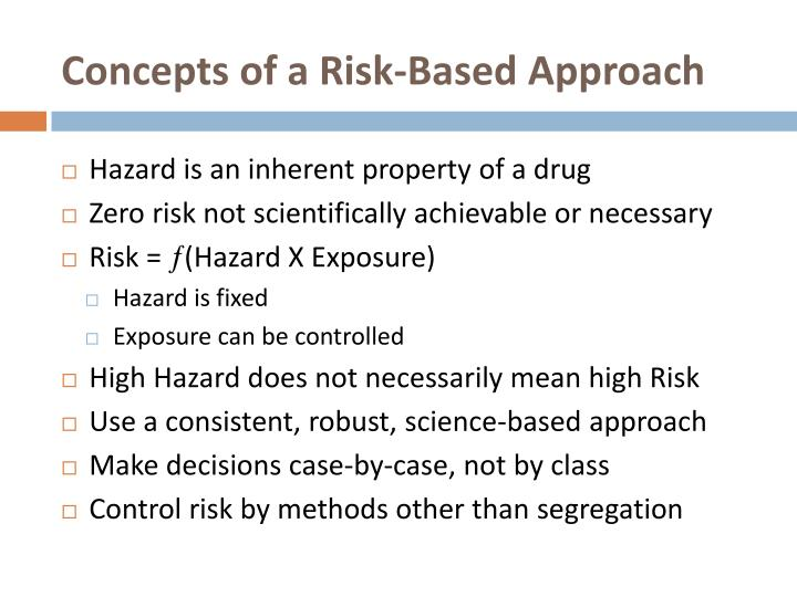Concepts of a Risk-Based Approach