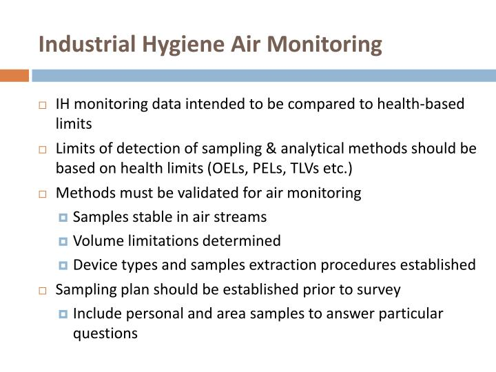 Industrial Hygiene Air Monitoring