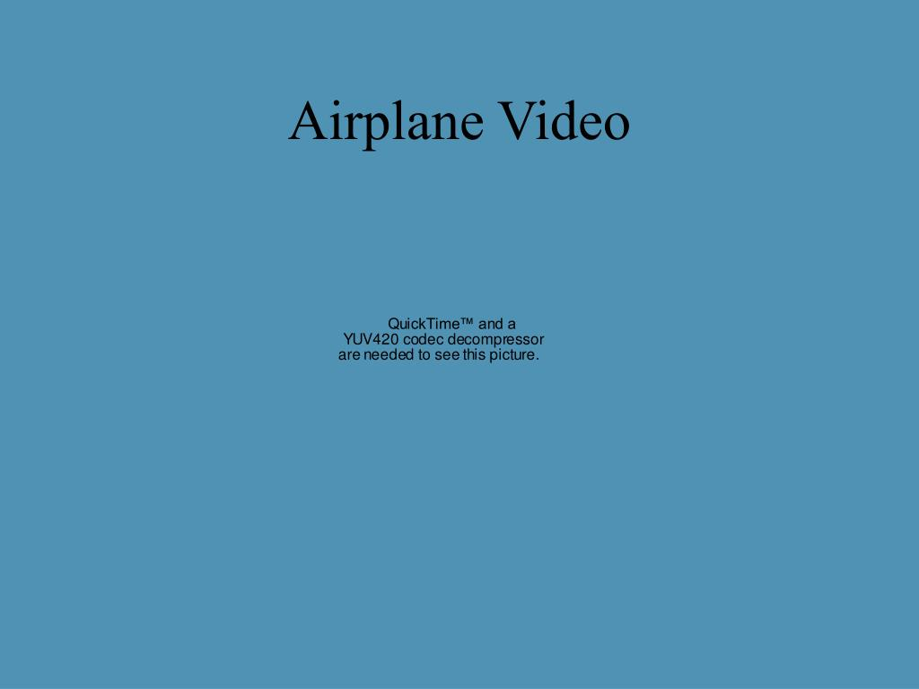 Airplane Video
