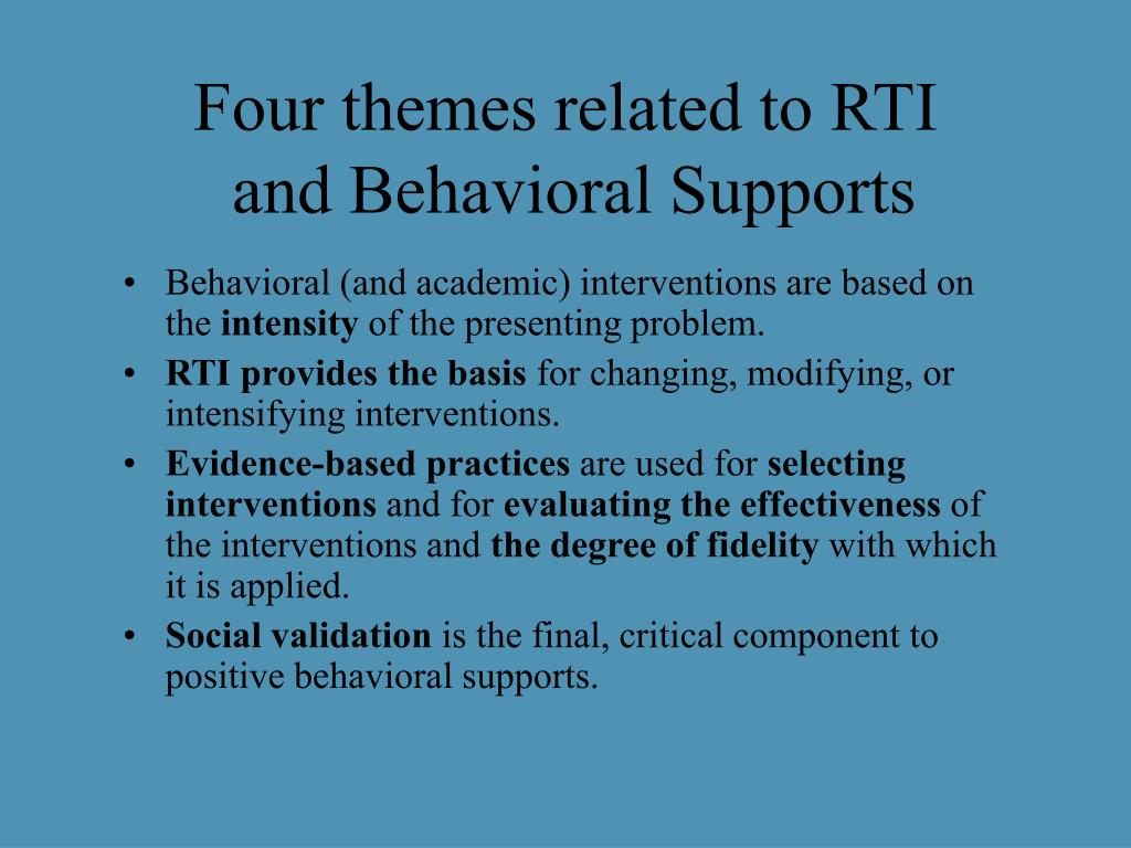 Four themes related to RTI